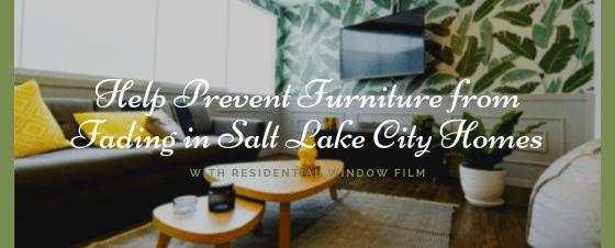 salt lake city residential window film fade prevention